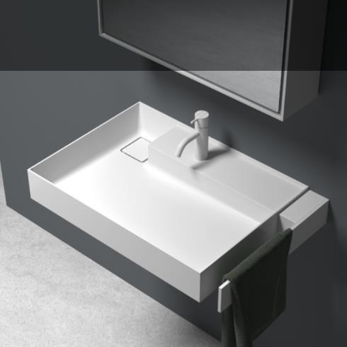 Waschbecken Scala | mineral matt weiß | 650x470x105