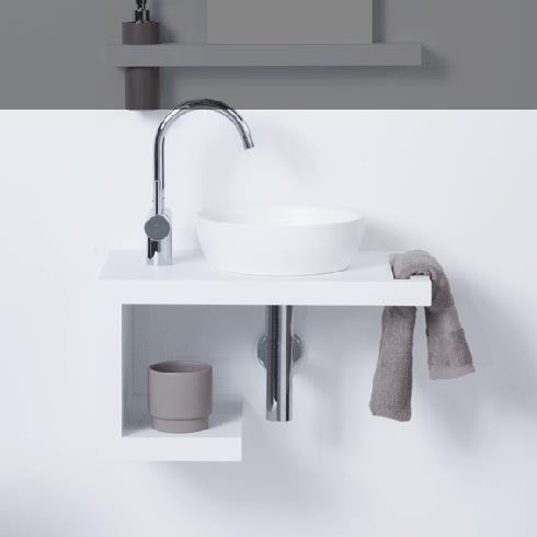 Waschplatz TAHA | weiß | 550x320x300