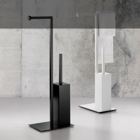 Regia | bodenstehende WC-Bürstenkombination | Absolute Alu lackiert