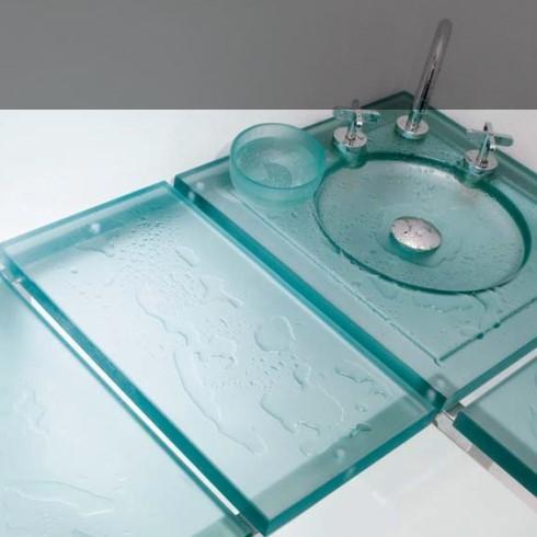 Wasserquelle Eckbank | Kunstharz grün
