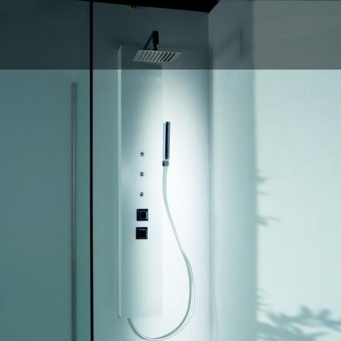 Duschpaneel Natural Liso | Solidstone | mit Nebel-Spraydüsen
