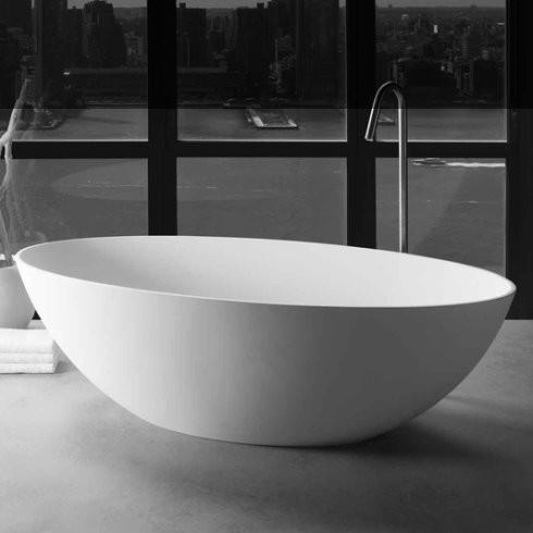 Badewanne London | DADOquartz | weiß | 176x82cm