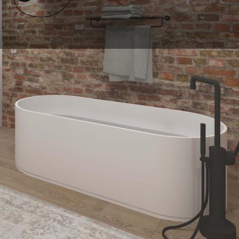 Badewanne Soho | DADOquartz | weiß | 180x80cm