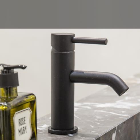 JEE-O | Waschtischarmatur Slimline | Edelstahl strukturiert schwarz | Lammert Moerman
