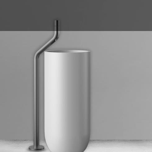 JEE-O | Standarmatur Flow | Edelstahl gebürstet | Brian Sironi