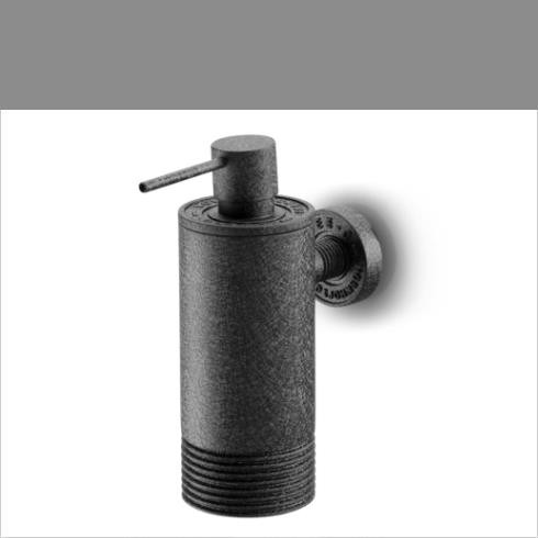 JEE-O | Seifenspender Soho |  Wandmontage | Hammerschlagbeschichtung | schwarz matt