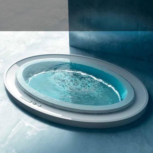 Ovaler Skimmer-Whirlpool Fusion 231 | Gruppo Treesse | Überlaufbadewanne mit Ghost System