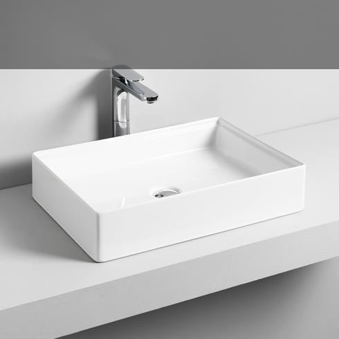 Art Ceram | Aufsatzwaschschale Scalino | weiß | 55 cm