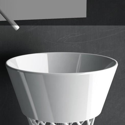 Art Ceram Aufsatzwaschschale Wire W1 | weiß