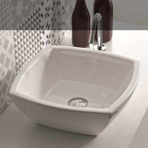 Hidra | Aufsatzschale Square | Keramik | weiß