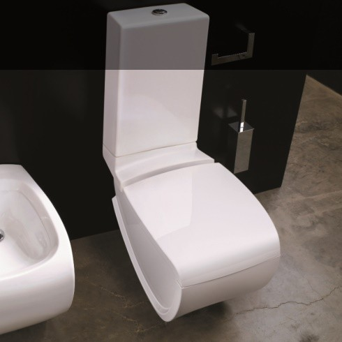 Hidra | Stand-WC mit Spülkasten | Hi-Line | weiß