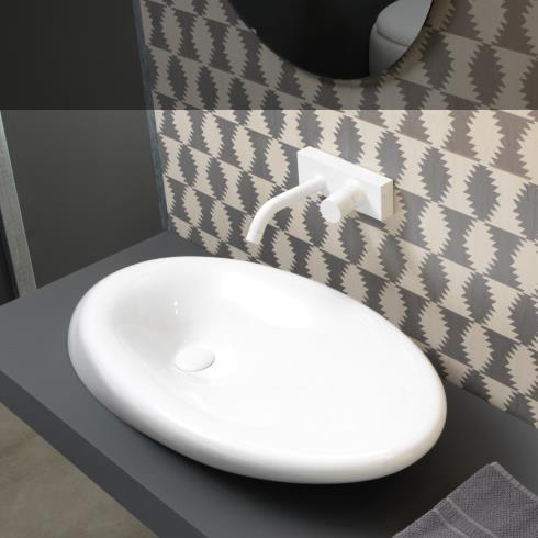 Waschschale Touch | 90cm | weiß glänzend