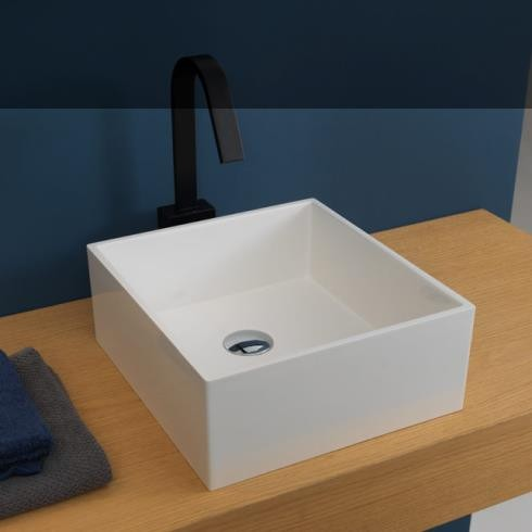 Aufsatzwaschbecken Box | 33 x 35 | weiß