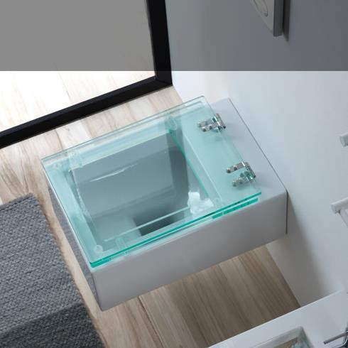 Wand-WC | Serie Glass | transparenter WC-Sitz