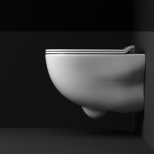 Axa Wand-WC Wild | spülrandlos | 52cm | mit WC-Sitz weiß