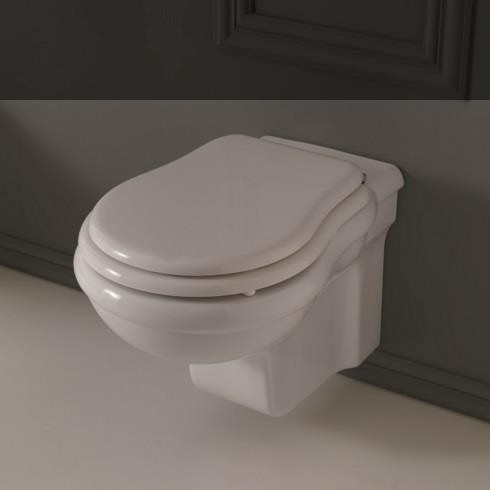 Axa Wand-WC Contea | mit WC-Sitz weiß