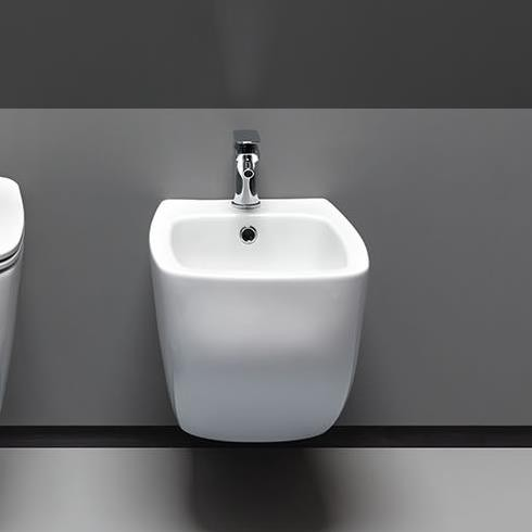 Axaone | Wandbidet Serie White Jam | weiß glänzend