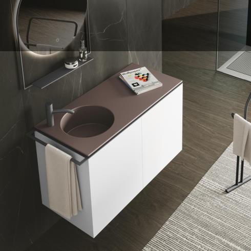 Axaone Regolo | Waschtischmöbel | 107x48 | siena matt | bianco matt