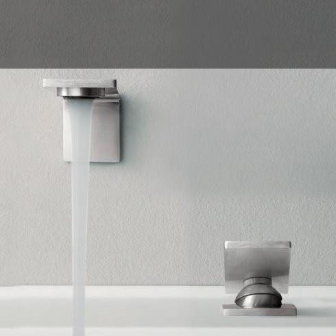 Treemme Einhebel-Tischmischer 5mm mit Wandauslauf | Edelstahl gebürstet