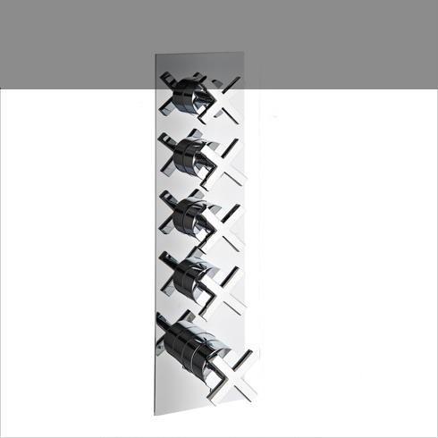 4 Wege-Unterputzmischer | 7297XC | chrom (CC)