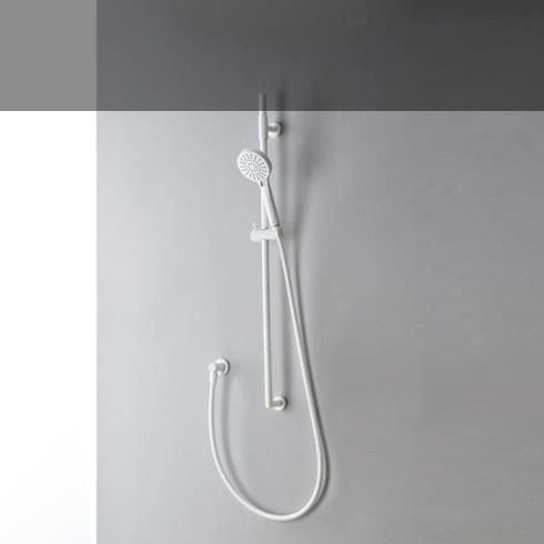 Brausestangen-Set | 6595 | weiß matt | mit Wandbogen