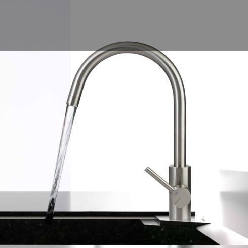 Treemme | Einhebelmischer für Küchenspülen | Serie 40mm | Edelstahl gebürstet