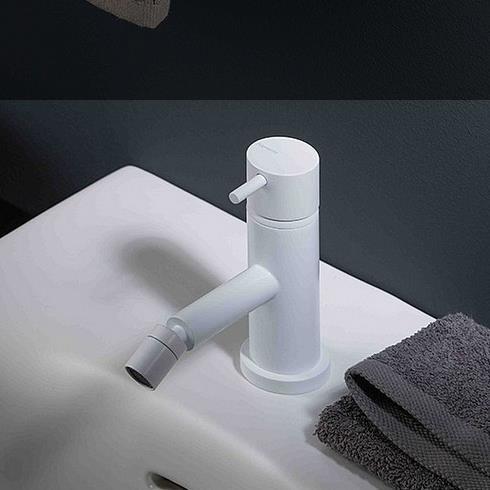 Einhebel-Bidetmischer Diametrotrentacinque | weiß matt | schwenkbarer Auslauf
