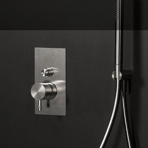2- Wege Unterputzmischer Diametro35 | Edelstahl | mit Handbrauseset (separater Artikel)