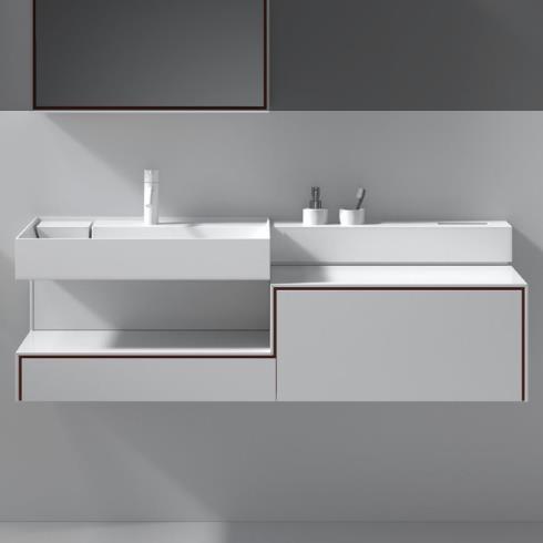 Waschplatz Scala 2 | mineral matt weiß | 1300x470x413