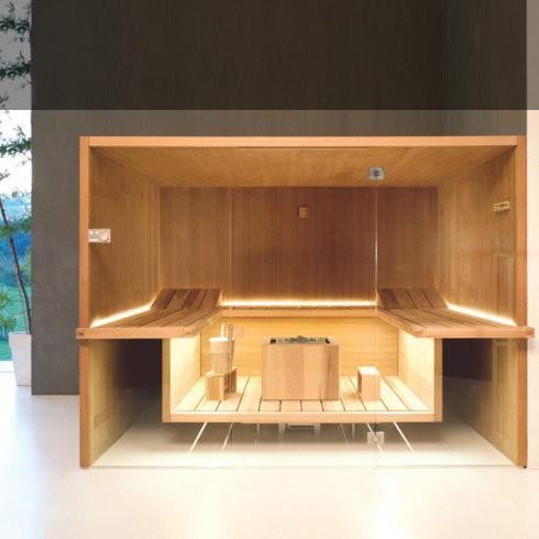 Effegibi | Sauna Air 120 | thermisch behandelte Espenholz