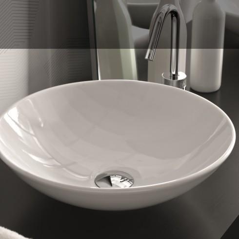 Aufsatzwaschbecken Rund hidra ceramica aufsatzwaschbecken polis   rund   41cm