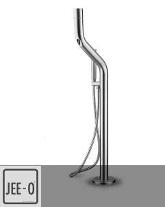 JEE-O | Wannen-Standarmatur Flow | Edelstahl gebürstet | Brian Sironi