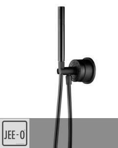 JEE-O | Handbrauseset Soho wandmontiert | schwarz