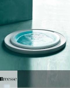 Runder Skimmer-Whirlpool Fusion 200 | Gruppo Treesse | Überlaufbadewanne mit Ghost System