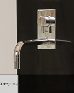 Wandauslaufarmatur für La Fontana Waschtischsäule