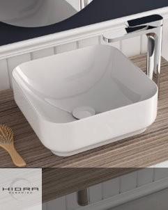 Aufsatz-Waschschale Giò 43 | weiß auf Unterkonsole Mensola