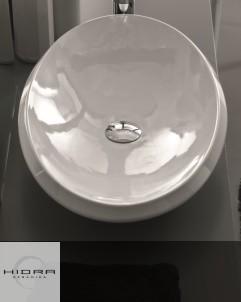 Waschschale Oval | weiß | 71 cm