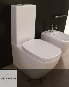 Hidra | Spülkasten-Stand-WC Dial und Stand-Bidet | weiß
