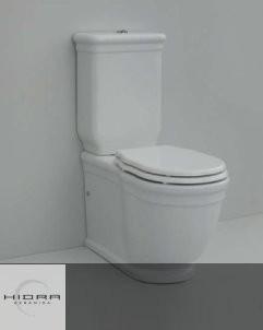Hidra | wandstehendes Spülkasten-Stand-WC Ellade | weiß | Sitz weiß