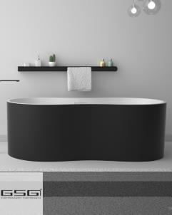 GSG | Badewanne Time | schwarz/weiß | 170x76