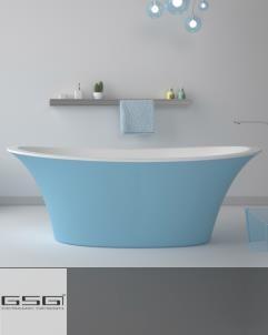 GSG | Badewanne Flute | sky/weiß | 170x80