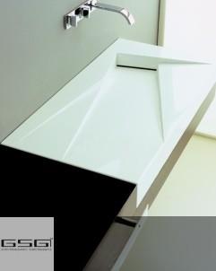 Waschtisch OZ | 95cm | Rechtsversion DX | weiß glänzend