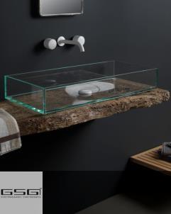 Aufsatz-Waschschale Glass | 80cm
