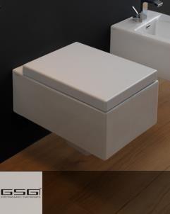 GSG | Wand WC | Serie Box / Oz | weiß | Soft Close WC-Sitz