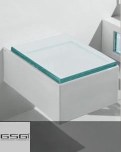 Wand-WC | Serie Glass | transparenter WC-Sitz