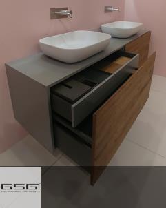 GSG | Top Class | Waschtischunterschrank mit 4 Auszügen | 200cm