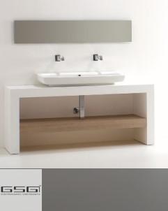 Waschtischbank  weiß | innere Konsole optional