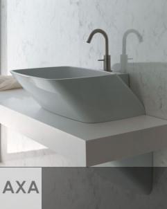 AXA | Serie 138 | Aufsatzwaschbecken 60cm  mit Hahnlochbank und Siphonverkleidung
