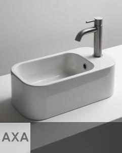 Handwaschbecken Cosa 48.25 | Mini-Aufsatz- oder Wandwaschbecken | 48x25cm