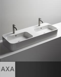 Doppel-Waschbecken Cosa 120.45| Aufsatz- oder Wandwaschtisch | 120cm